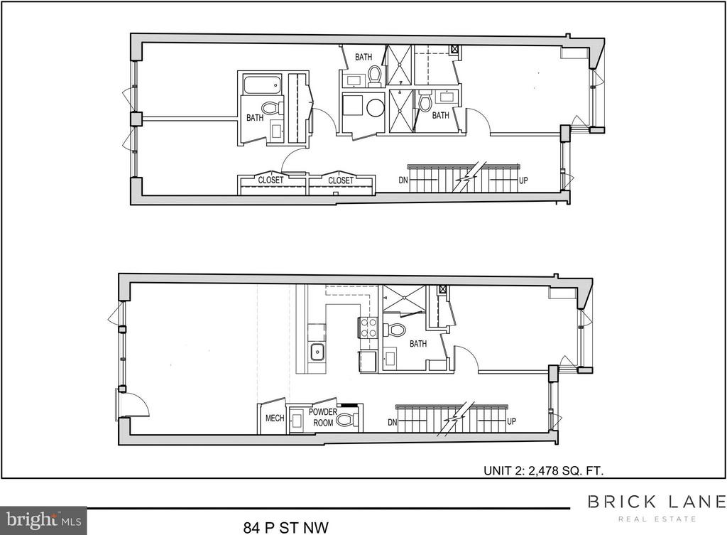 Unit 2 Floor Plan - 84 P ST NW, WASHINGTON