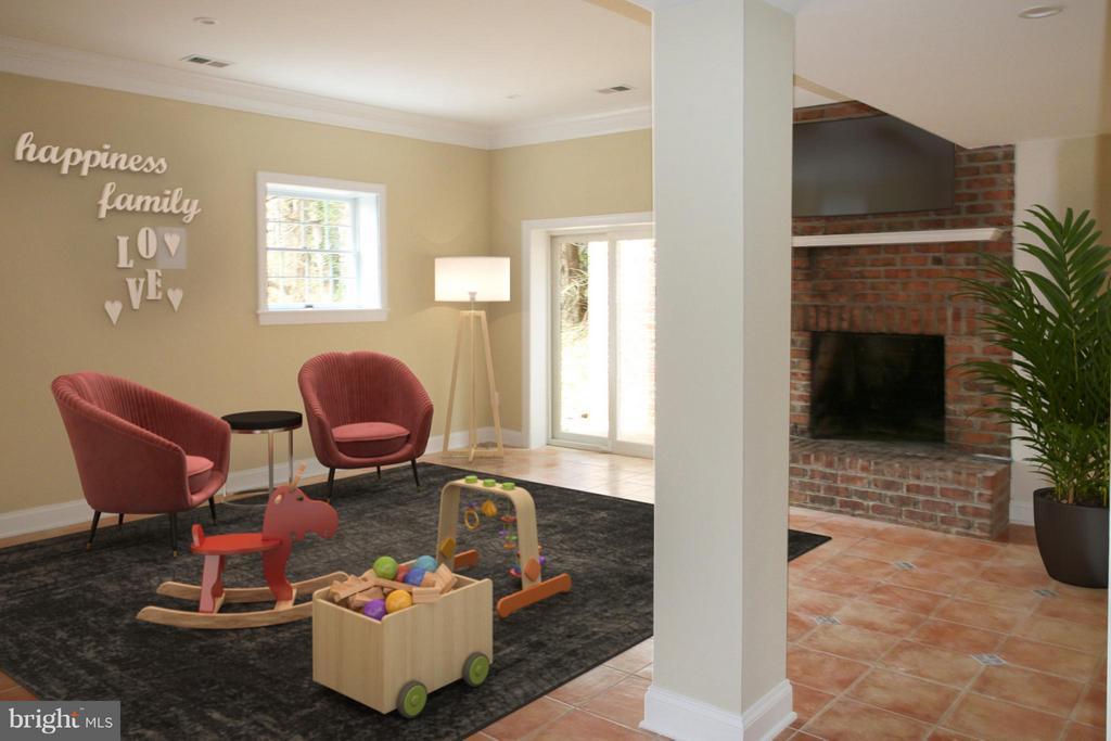 Basement -- Au Pair or In-Law Rec.Room - 7812 SWINKS MILL CT, MCLEAN