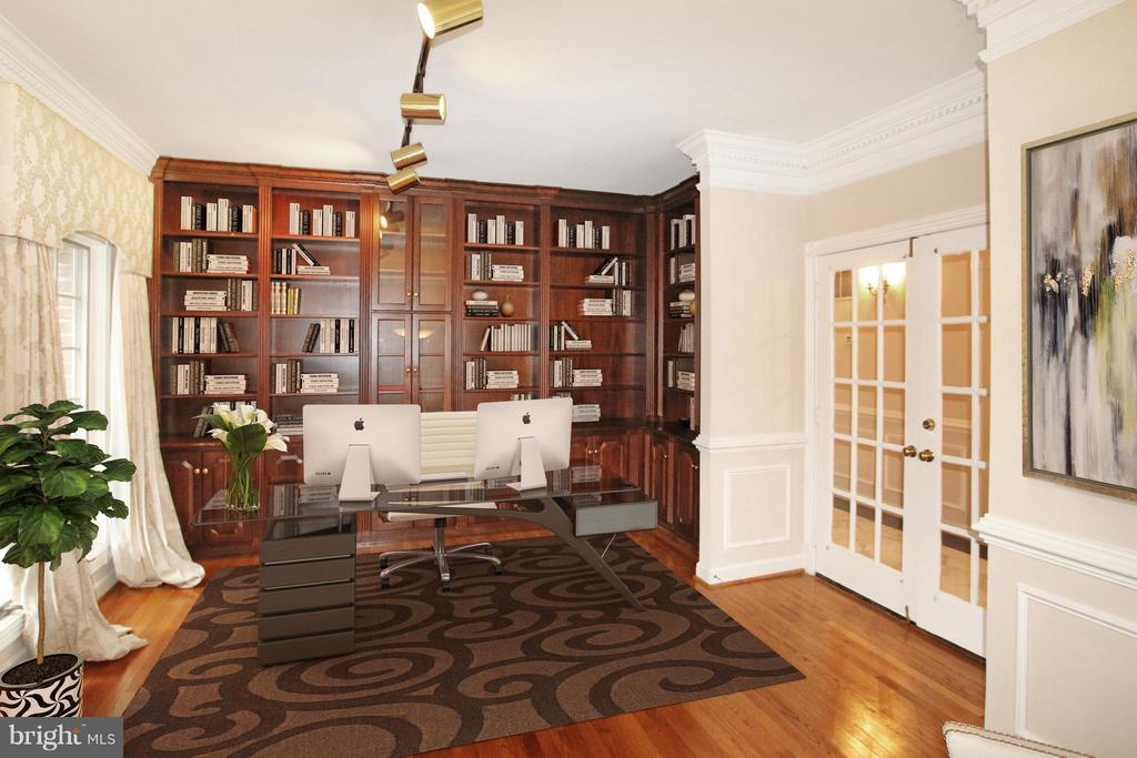 Main level office (Staging for demonstration only) - 7812 SWINKS MILL CT, MCLEAN