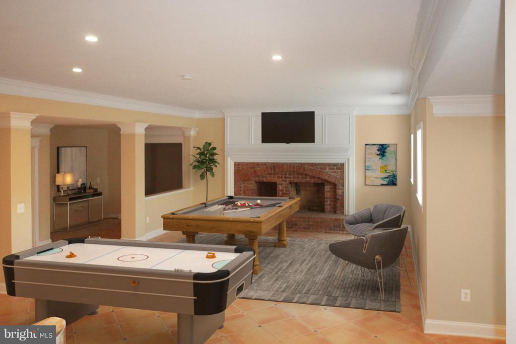 Recreation Room (Staging for demonstration only) - 7812 SWINKS MILL CT, MCLEAN