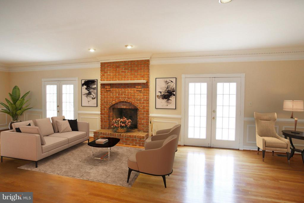 Family Room (Staging for demonstration only) - 7812 SWINKS MILL CT, MCLEAN