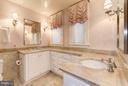 Owner's en suite bath with marble double vanity - 2301 CONNECTICUT AVE NW #2C, WASHINGTON