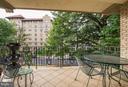 Large, covered balcony - 2301 CONNECTICUT AVE NW #2C, WASHINGTON