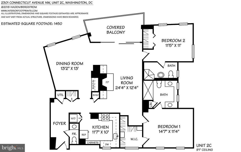 Floor plan - 2301 CONNECTICUT AVE NW #2C, WASHINGTON