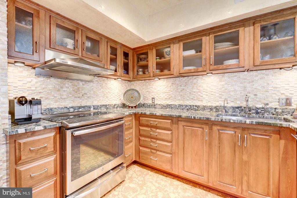 Gourmet kitchen w/ high-end, stainless appliances - 2301 CONNECTICUT AVE NW #2C, WASHINGTON