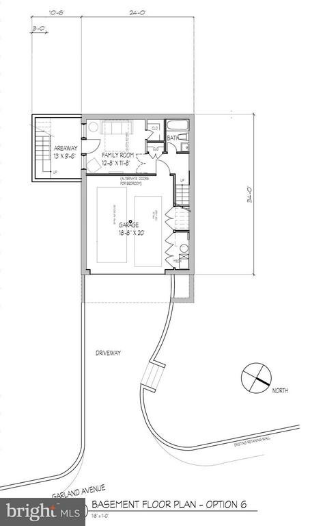 Proposed Lower Level Floor Plan - 7808 GARLAND AVE, TAKOMA PARK