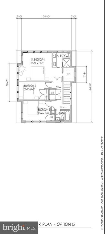 Proposed Second Floor Plan - 7808 GARLAND AVE, TAKOMA PARK
