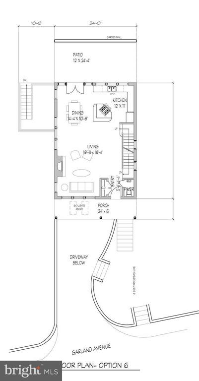 Proposed First Level Floor Plan - 7808 GARLAND AVE, TAKOMA PARK