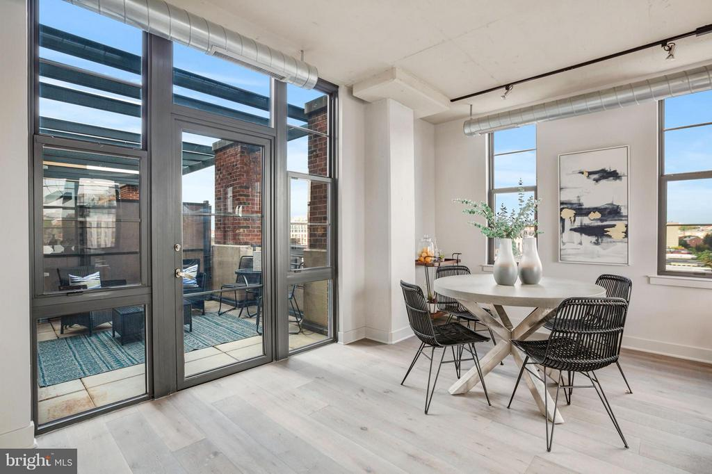 Dining Area Leads to Second Large Terrace - 2125 14TH ST NW #815, WASHINGTON