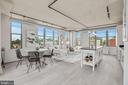 Bright Living/Dining Areas with Multiple Exposures - 2125 14TH ST NW #815, WASHINGTON
