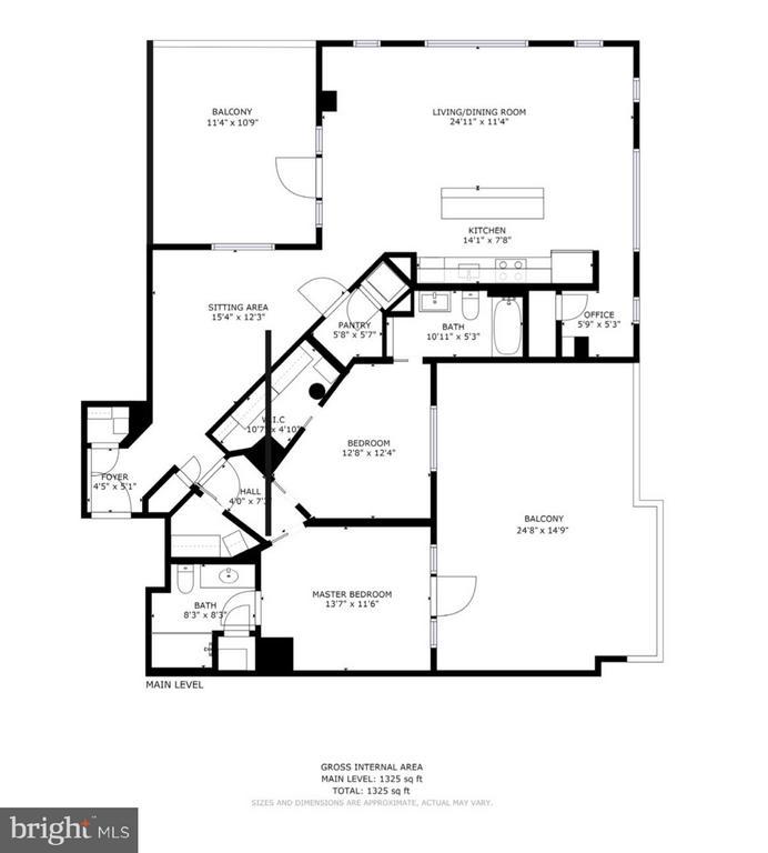 Floor Plan - 2125 14TH ST NW #815, WASHINGTON