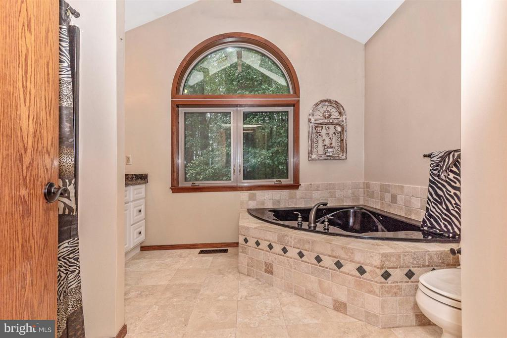 Upper level 2nd master bathroom with jetted tub. - 914 TREVANION RD, UNION BRIDGE
