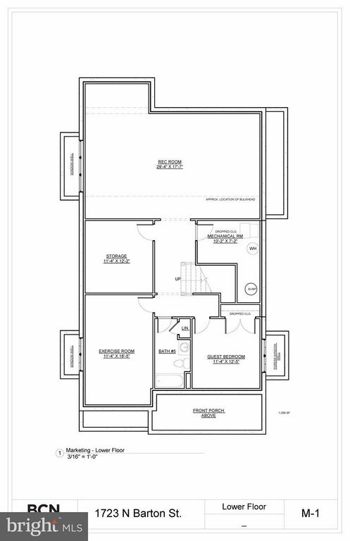 Lower Level Floor Plan - 1723 BARTON ST N, ARLINGTON