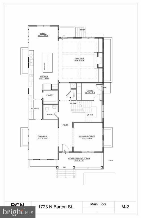 Main Level Floor Plan - 1723 BARTON ST N, ARLINGTON