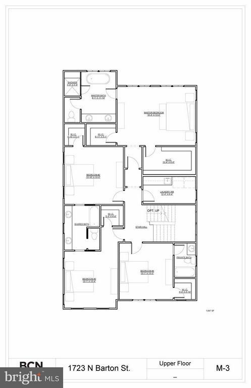 Upper Level Floor Plan - 1723 BARTON ST N, ARLINGTON