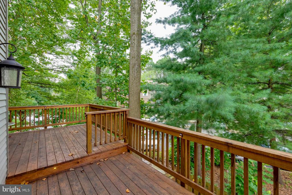 Expansive deck great for entertaining - 7513 SWAN POINT WAY #18-1, COLUMBIA