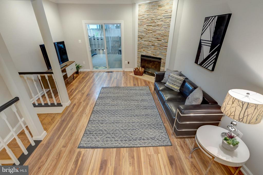 View of Living Room for Staircase - 11189 SILENTWOOD LN, RESTON
