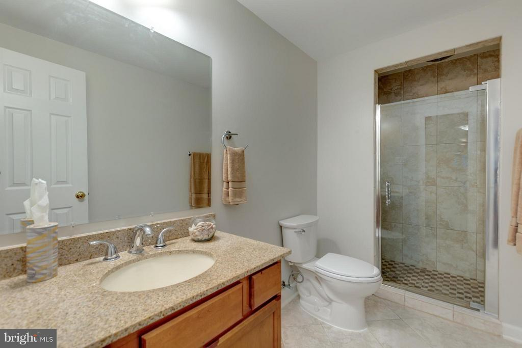 Second Full Bath on Lower Level with shower/ - 11189 SILENTWOOD LN, RESTON