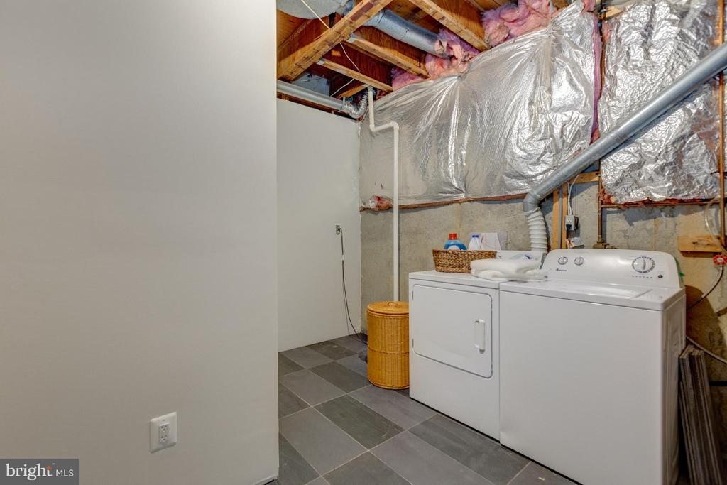 Unfinished Utility Room with Washer/Dryer - 11189 SILENTWOOD LN, RESTON