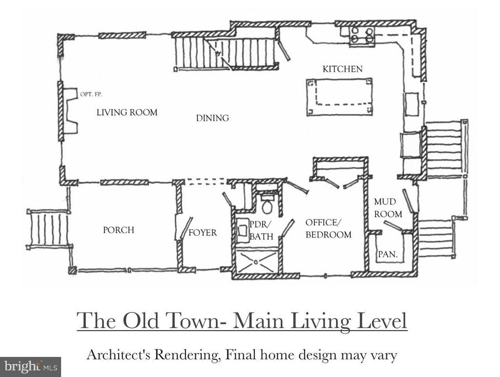 Main Level of the Old Town Model - 4705 HOWARD LN, COLLEGE PARK