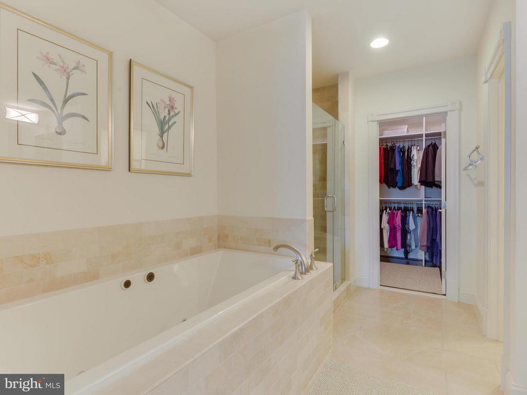 Master Bath with dual sinks, shower, and bath - 4526 WESTHALL DR NW, WASHINGTON