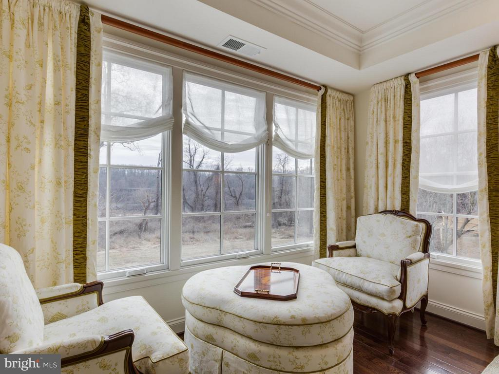 Master Bedroom with views of the Potomac River - 4526 WESTHALL DR NW, WASHINGTON