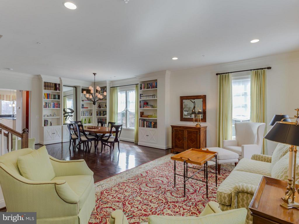 Living Room and Dining Room Open Floorplan - 4526 WESTHALL DR NW, WASHINGTON