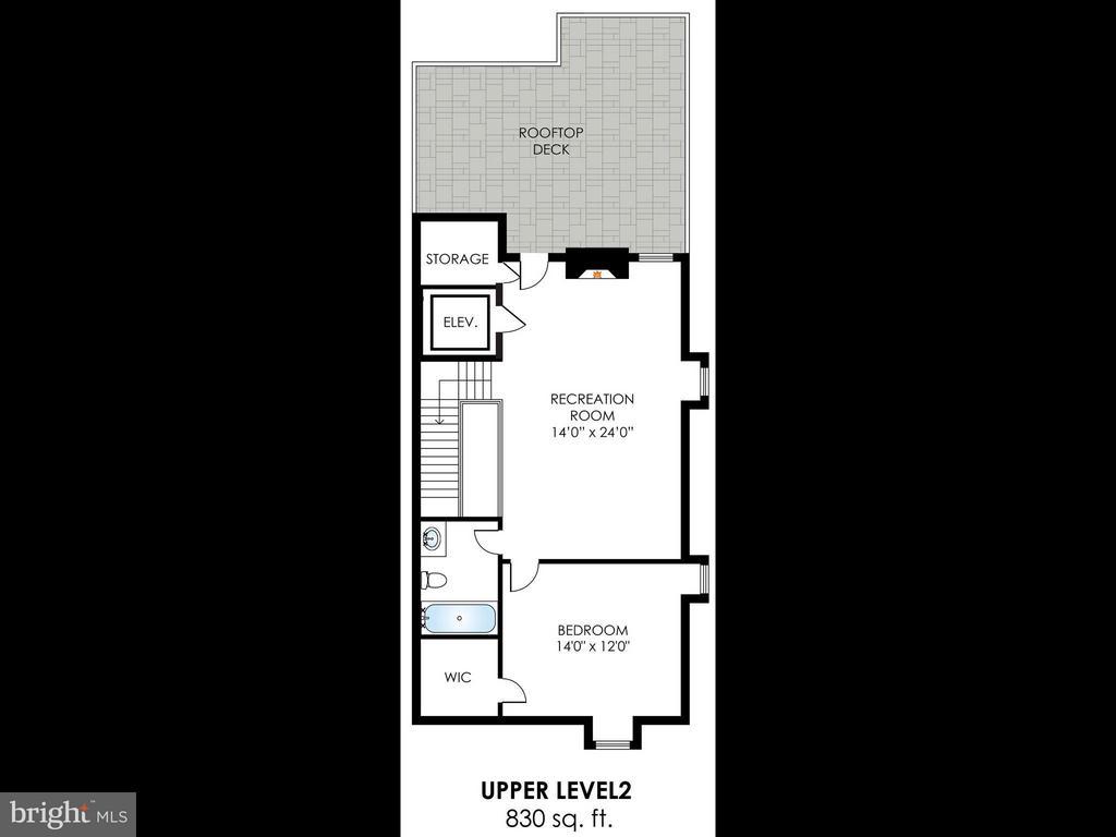 Forth Floor-Floor Plan - 4526 WESTHALL DR NW, WASHINGTON