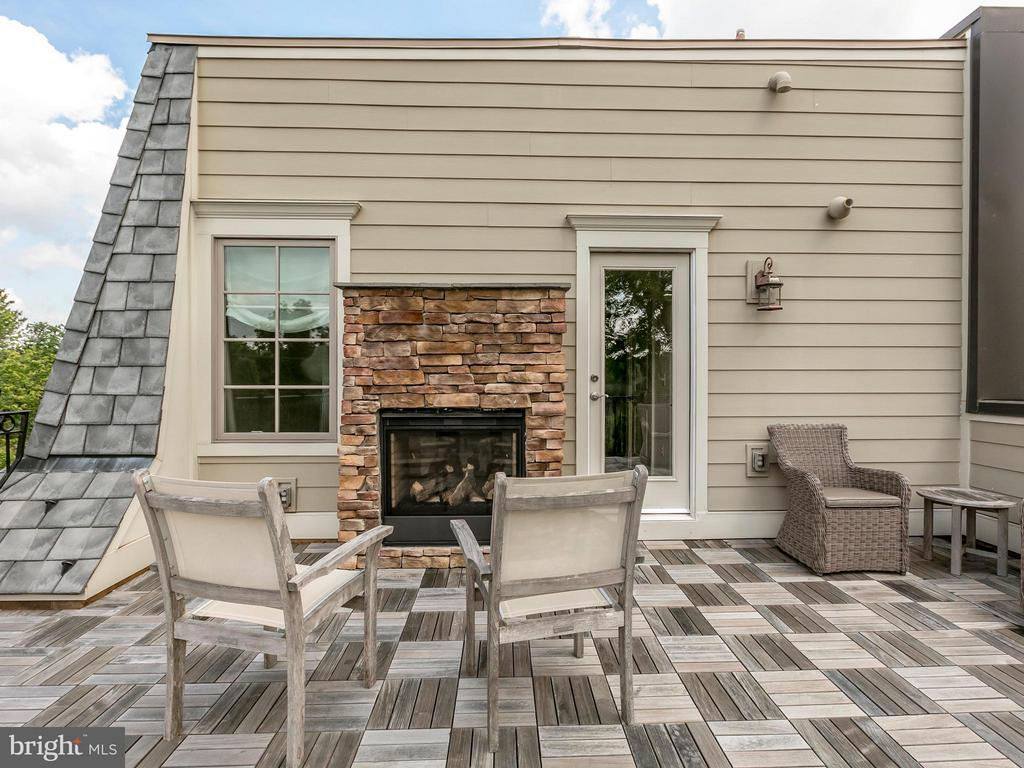 Rooftop Deck Fireplace - 4526 WESTHALL DR NW, WASHINGTON