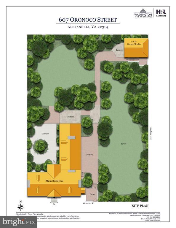 Exterior Site Plan - 607 ORONOCO ST, ALEXANDRIA