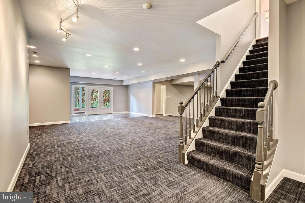 Lower Level Rec Room w/ Walk-Out - 1416 WYNHURST LN, VIENNA