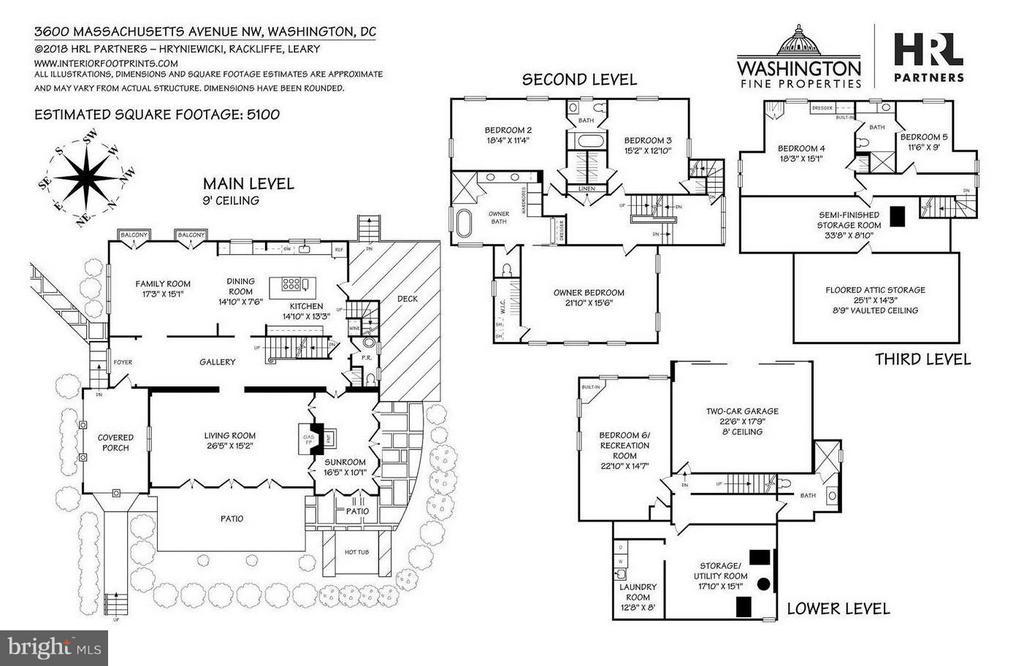 Floor Plans - 3600 MASSACHUSETTS AVE NW, WASHINGTON