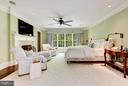 Master Bedroom w/ 2-way Fireplace - 7019 NATELLI WOODS LN, BETHESDA