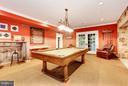Lower Level Billiards Room - 7019 NATELLI WOODS LN, BETHESDA