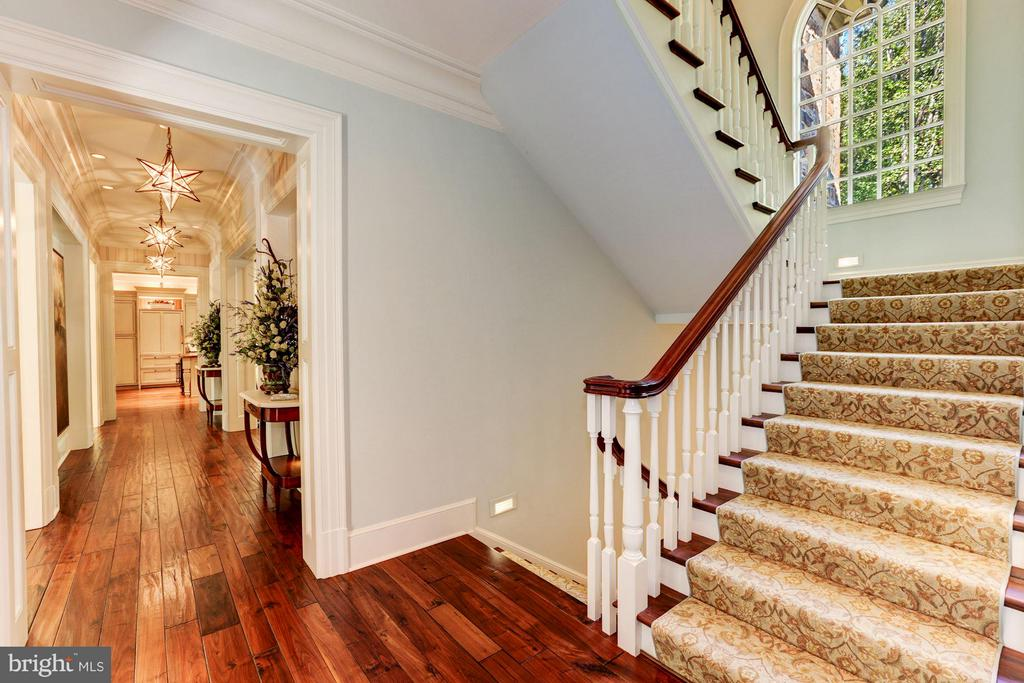 Main Level Central Stairs - 7019 NATELLI WOODS LN, BETHESDA