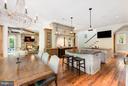 Eat-In Kitchen w/ High-End AGA Range - 7019 NATELLI WOODS LN, BETHESDA