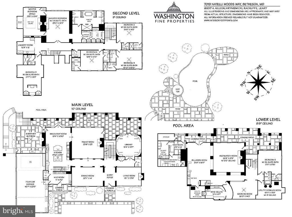 Floor Plans - 7019 NATELLI WOODS LN, BETHESDA