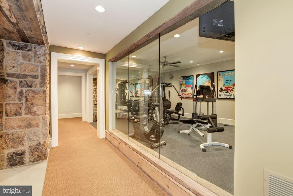 Lower Level Gym - 7019 NATELLI WOODS LN, BETHESDA