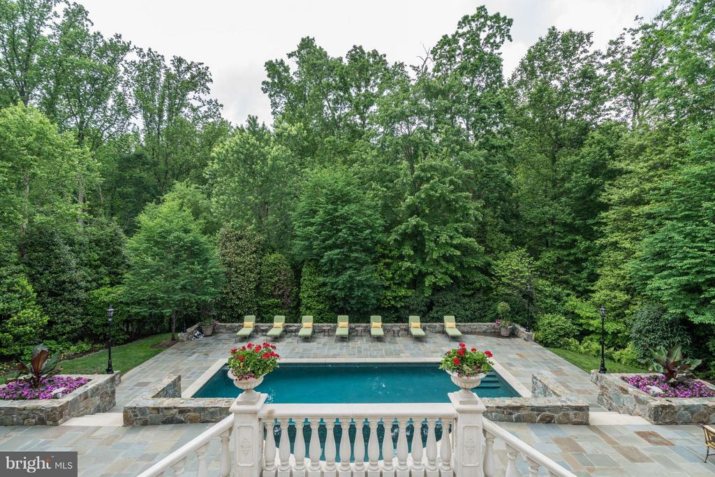 Pool View from Terrace - 896 ALVERMAR RIDGE DR, MCLEAN