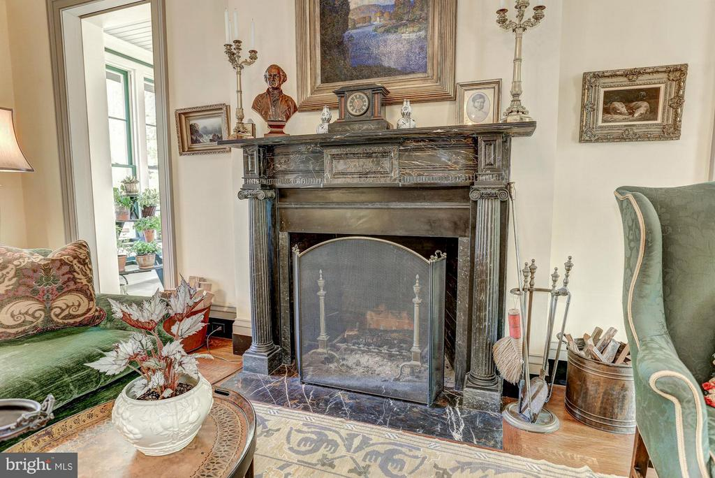 Italian Marble Fireplace Mantle - 12473 CREST HILL RD, HUME