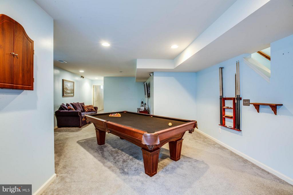Fully finished basement with large rec room - 10214 DARDEN CT, SPOTSYLVANIA