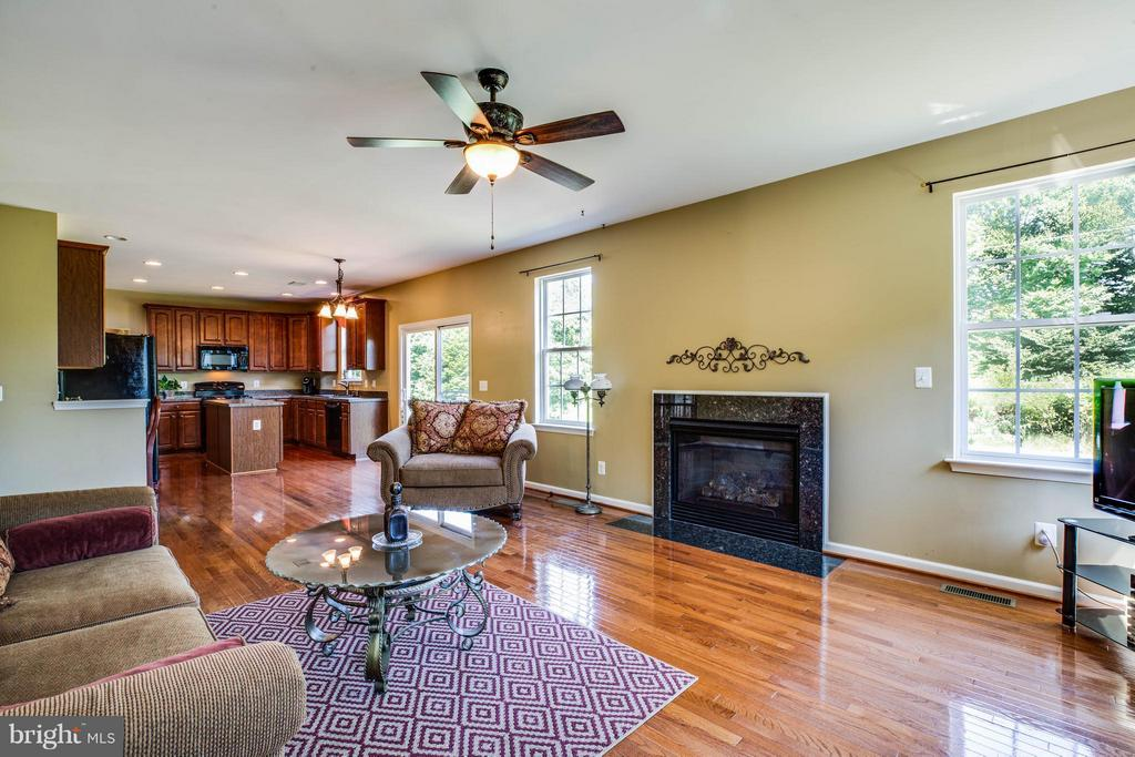 Family room has great sight lines from kitchen - 10214 DARDEN CT, SPOTSYLVANIA