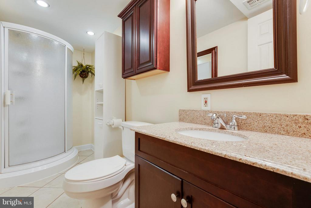 Updated Lower Level Bathroom - 2516 LINWOOD LN, WOODBRIDGE