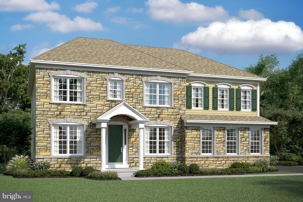 SHOWN WITH OPTIONAL STONE - BRICK FRONT STANDARD - 04 FORMATION, FREDERICKSBURG