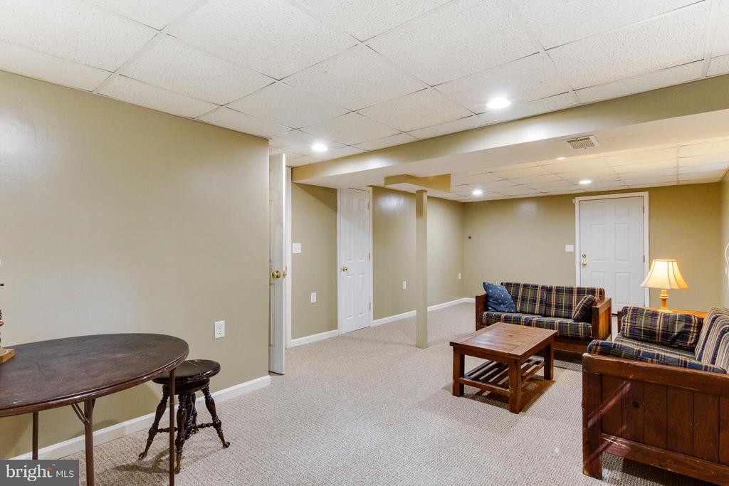 Large basement rec room walks out to ground level - 4087 CAMELOT CT, DUMFRIES