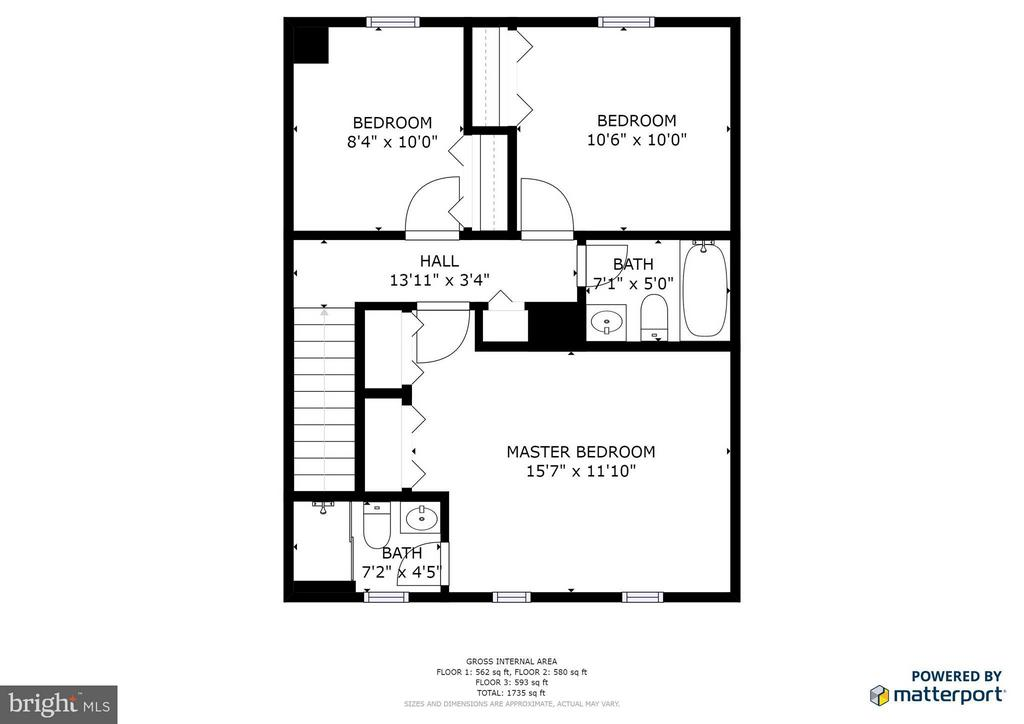 Upstairs Floor Plan - 6002 MARDALE LN, BURKE