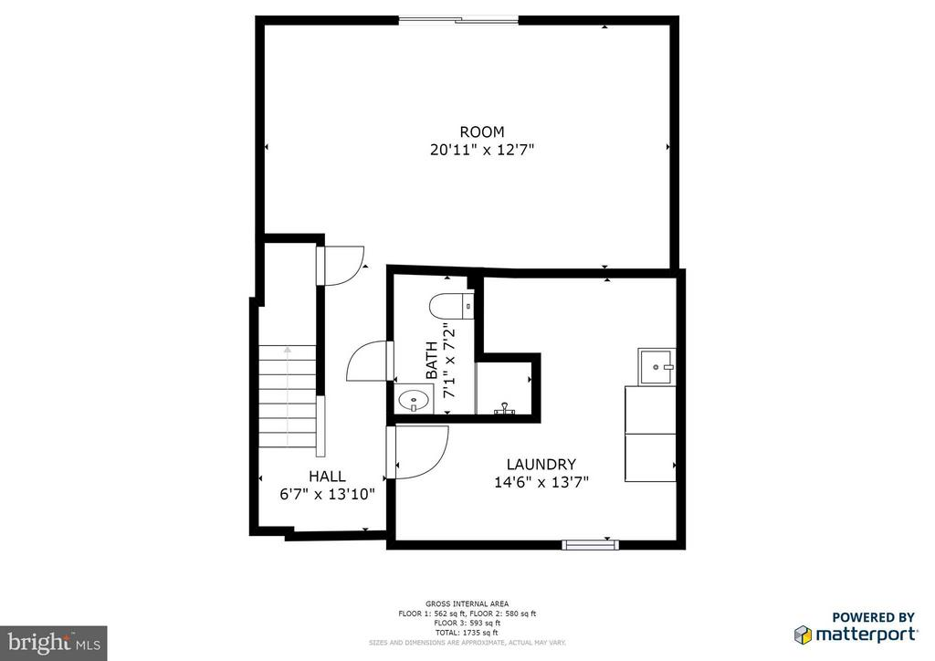 Lower Level Floor Plan - 6002 MARDALE LN, BURKE