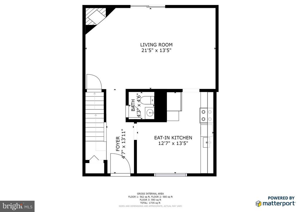 Main Level Floor Plan - 6002 MARDALE LN, BURKE