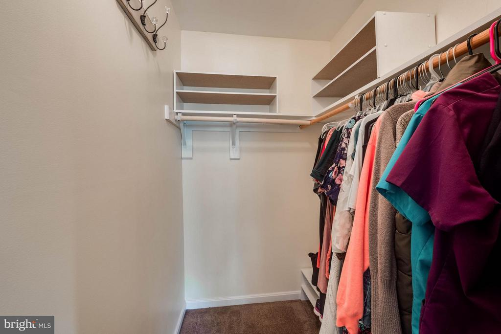 Master closet with built ins - 309 BARROWS CT, FREDERICKSBURG