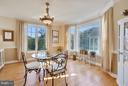 Angled bay window in dining Room with pretty views - 4610 MOCKINGBIRD LN, FREDERICK